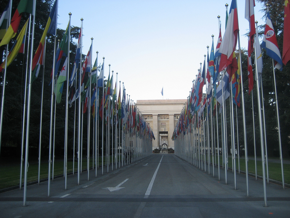 The United Nations in Geneva, Switzerland. (cometstarmoon via Flickr)
