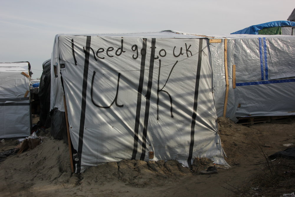 A refugee tent in Calais. (Flickr - malachybrowne)