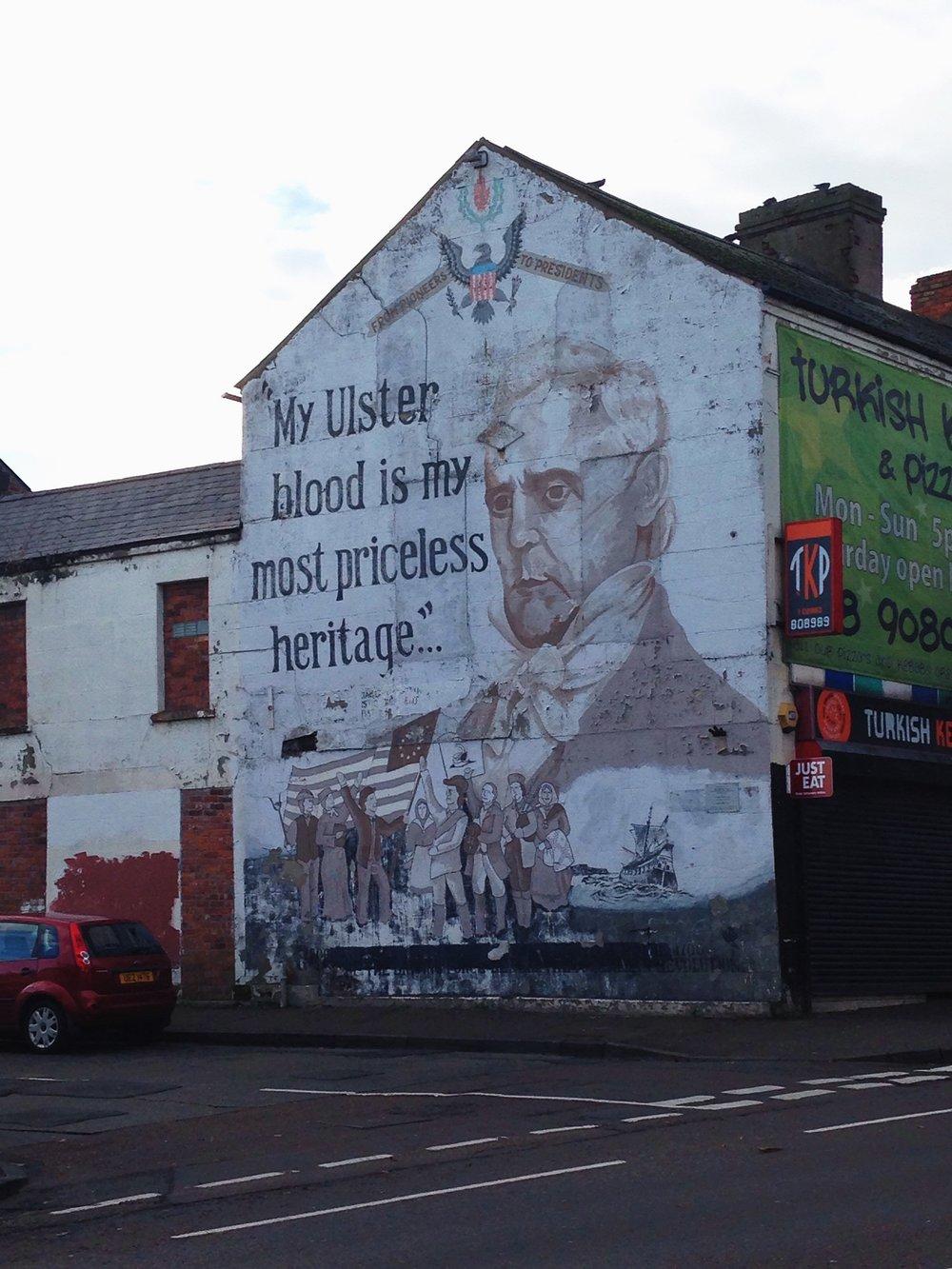 Pro-Unionist mural seen in Belfast, Ireland. © E.A. Crunden