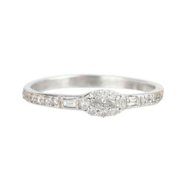 Elisa Solomon Anna Karinina Marquise Diamond Ring
