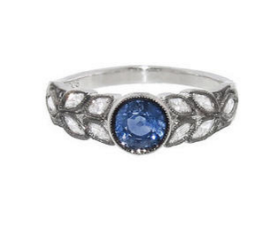 Cathy Waterman Sapphire Garland Ring