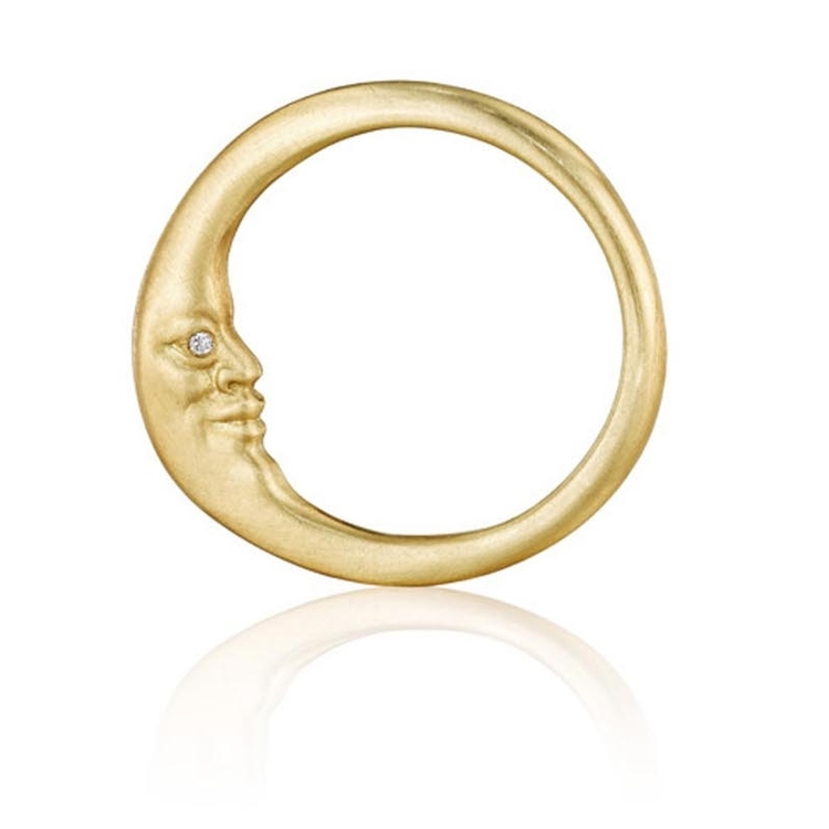 Anthony Lent Crescent Moon Ring