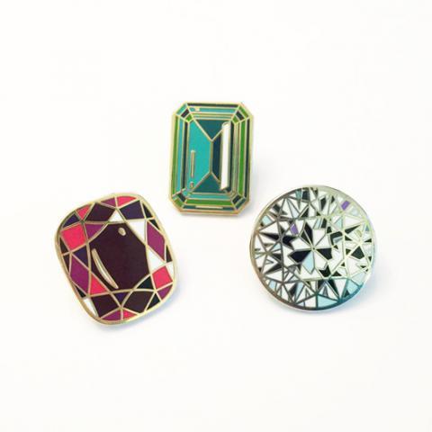 Diamondoodles Gemstone Pins