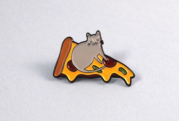 Pizza Cat Pin