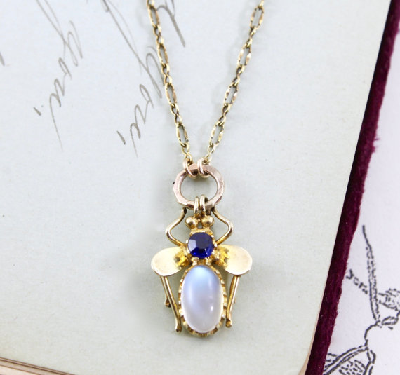 Moonstone Fly Necklace