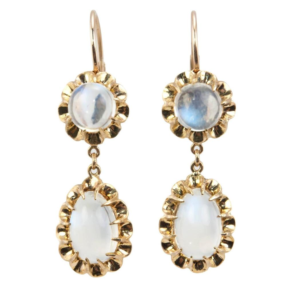 1950s Moonstone Earrings