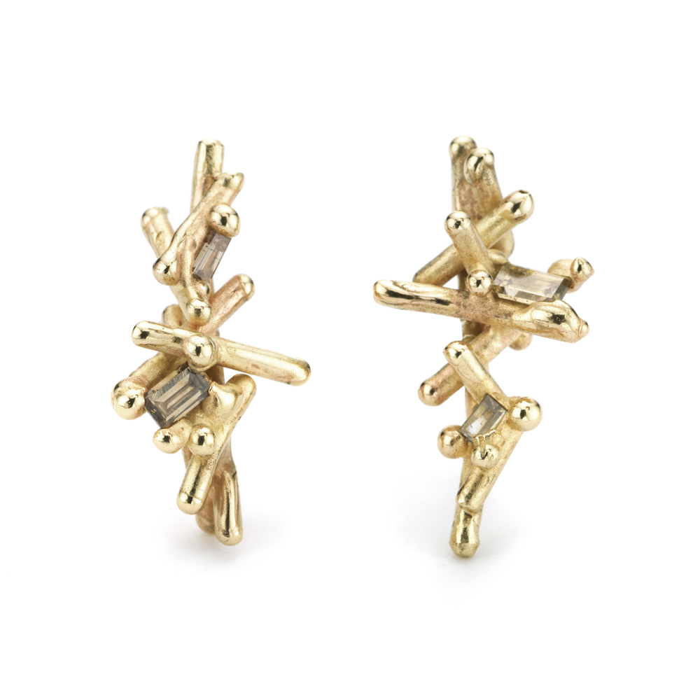 Baguette Champagne Diamond Studs (long) - 14ct yellow gold.jpg