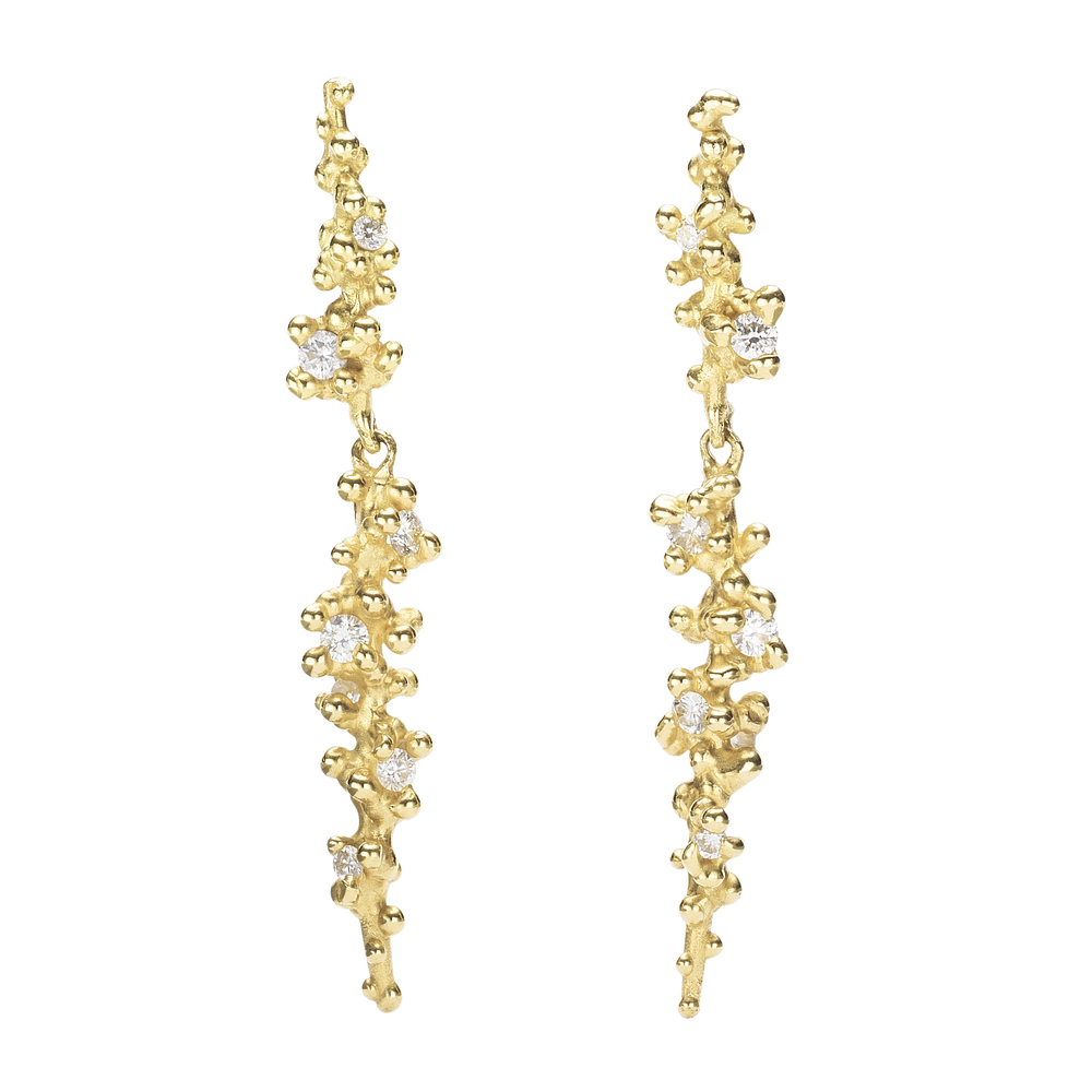 Long Diamond Drops with Granules - 18ct yellow gold.jpg