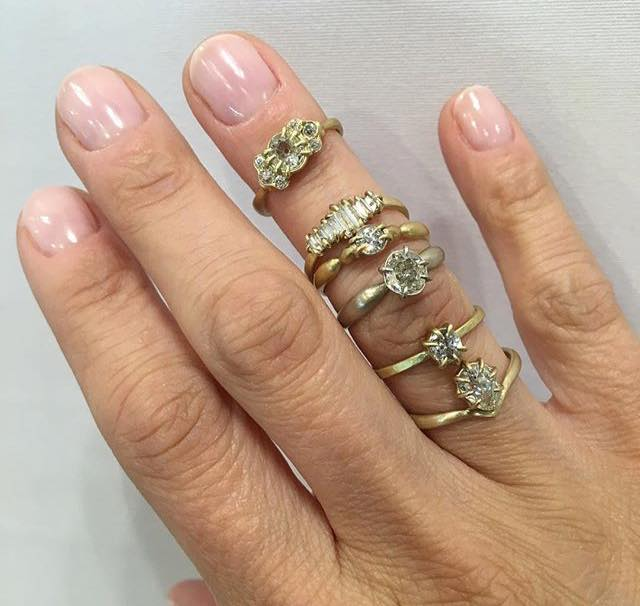 Hannah Blount rings worn by Jewelry Maven