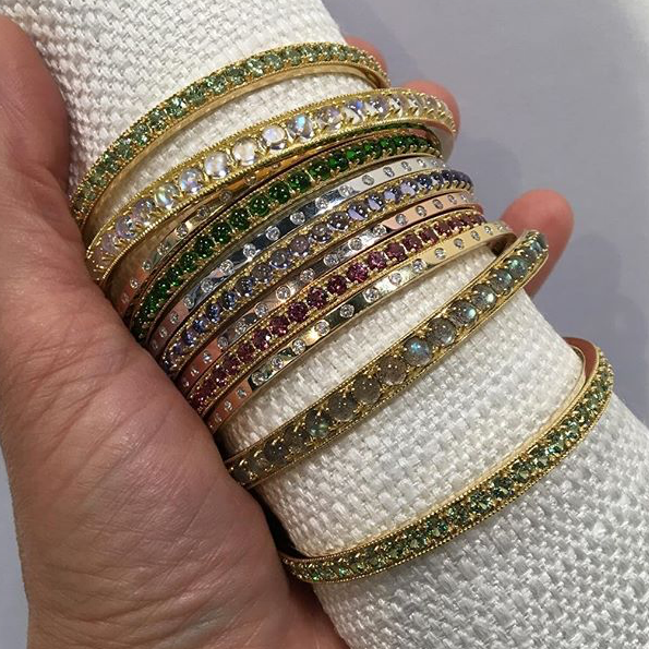 Alexis Kletjian bangles, photo by Jewelry Maven