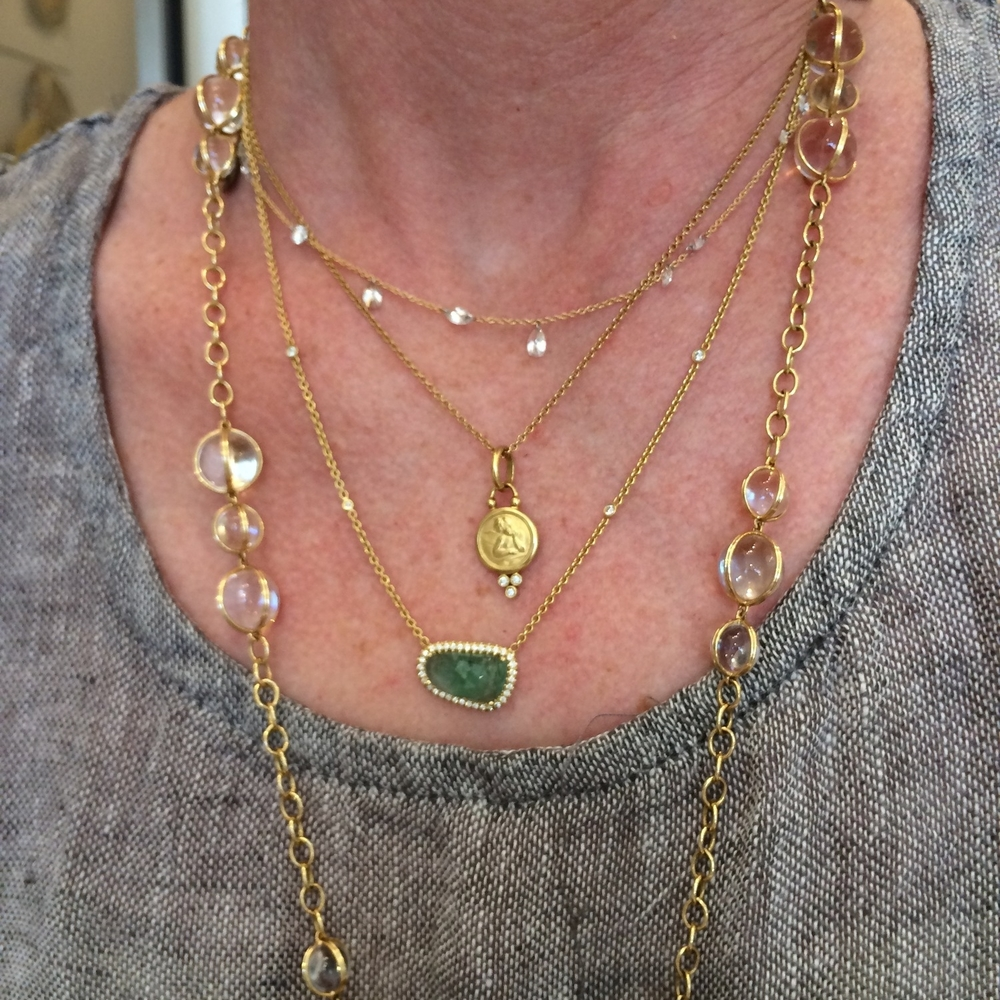 Amy's daily necklace layers