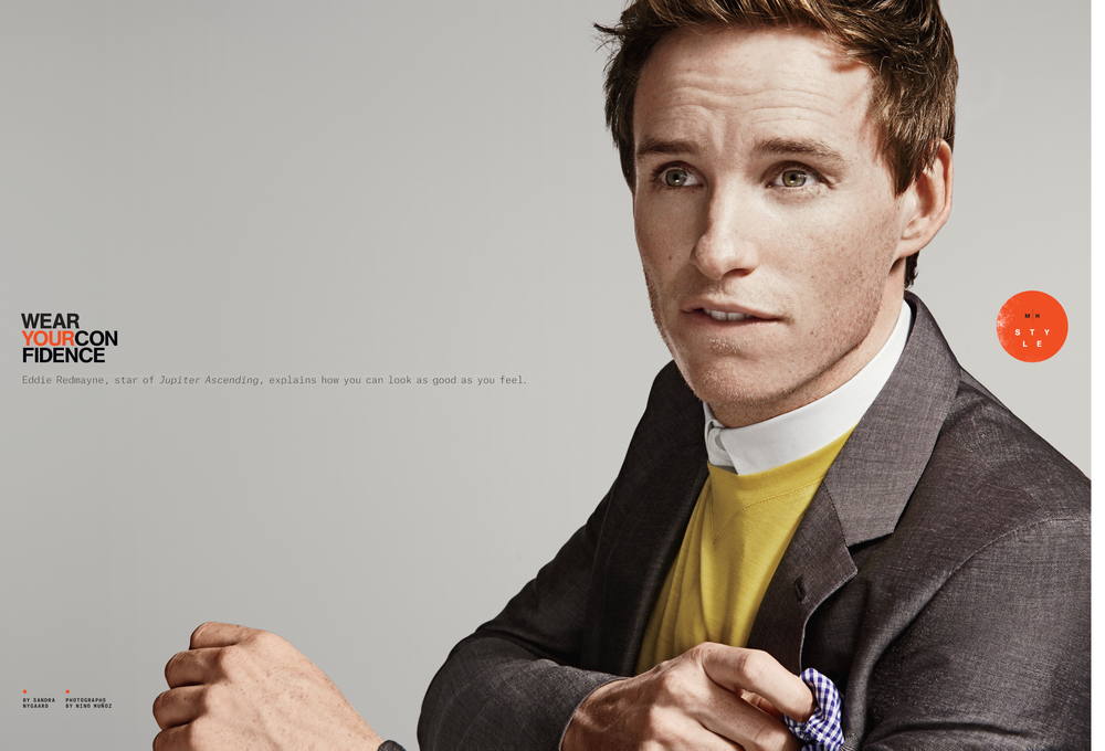 Eddie Redmayne, Men's Health