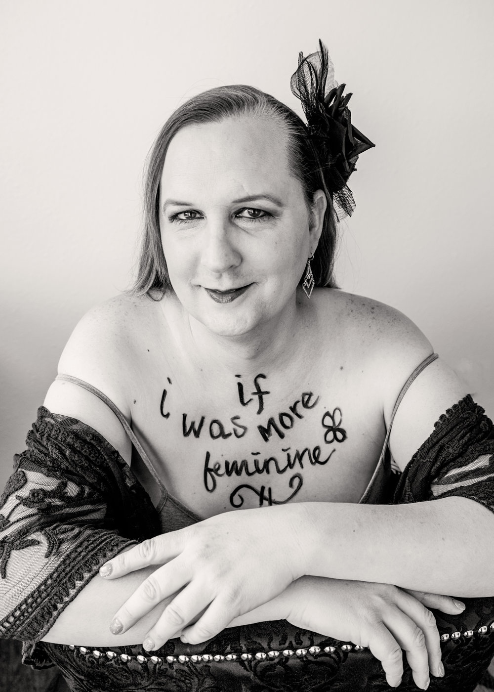 I was more feminine