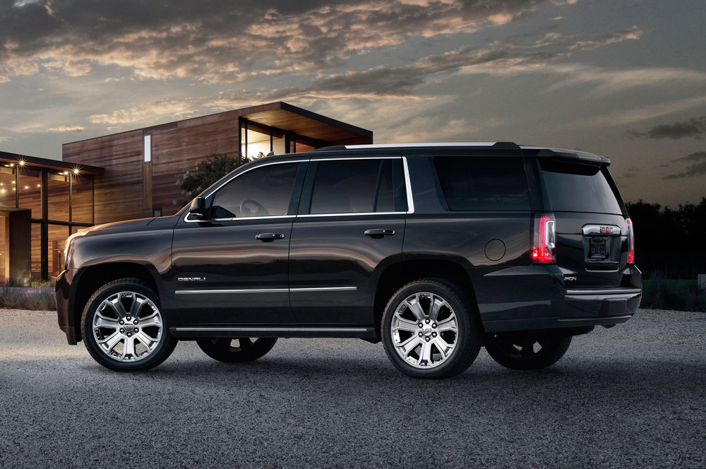 This is a Yukon Denali. It's the top of the line. The Yukon SLE won't have half the features of this beauty.  Photo Credit: Motor Trend