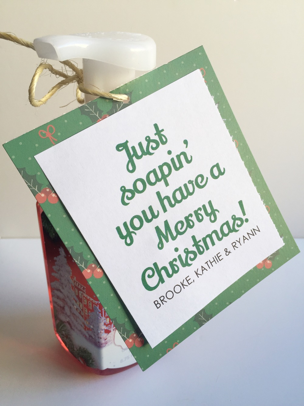 Christmas neighbor gift ideas soap