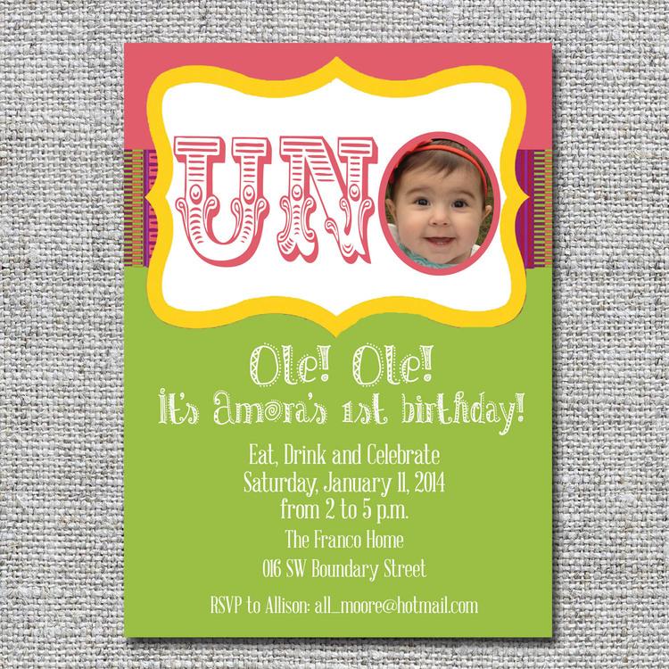 UNO first birthday invitation — nine0nine creative