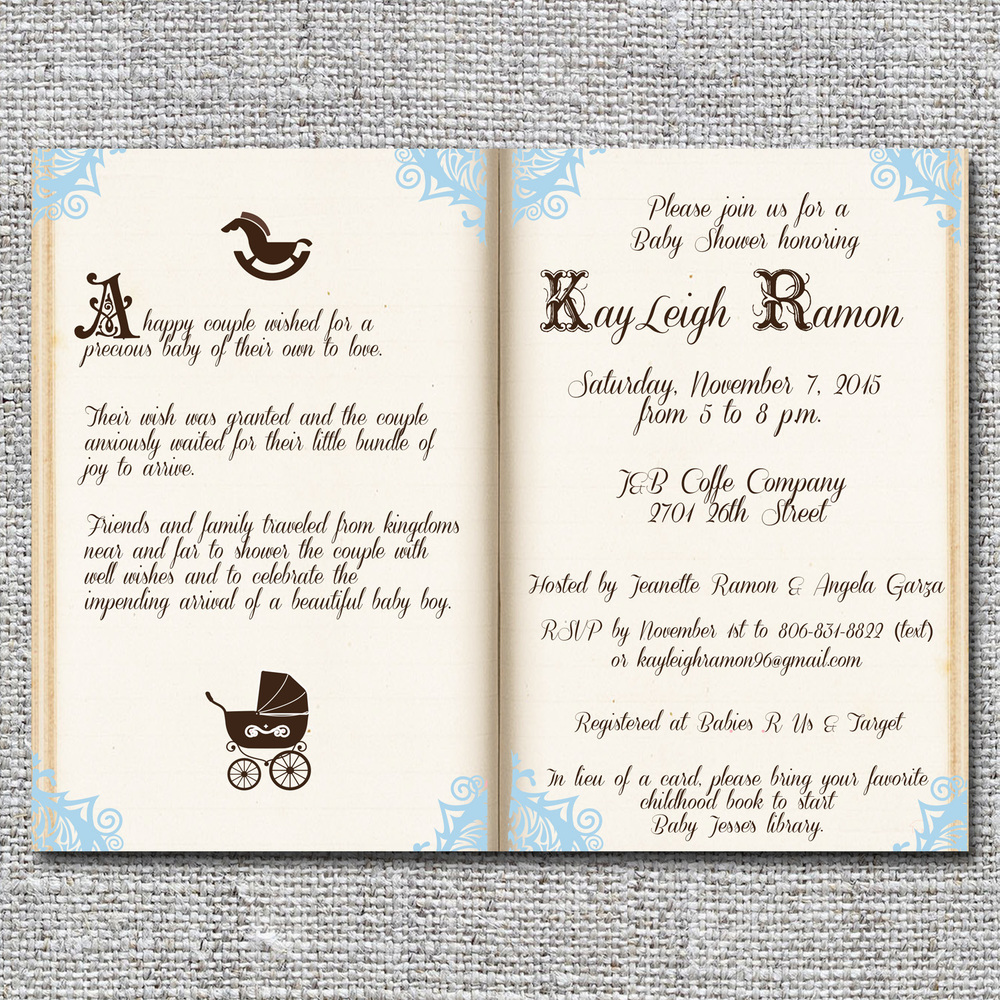 Storybook/fairy Tale Baby Shower Invitation