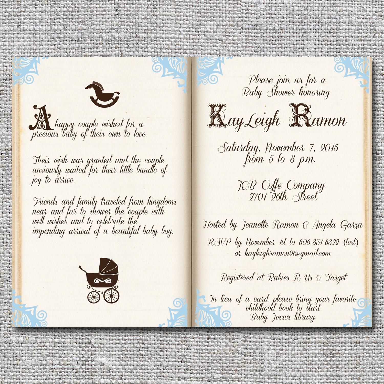 Storybookfairy tale baby shower invitation nine0nine creative storybookfairy tale baby shower invitation filmwisefo