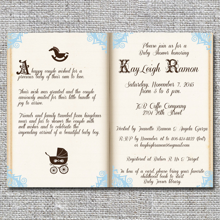 Storybook/fairy tale baby shower invitation — nine0nine creative