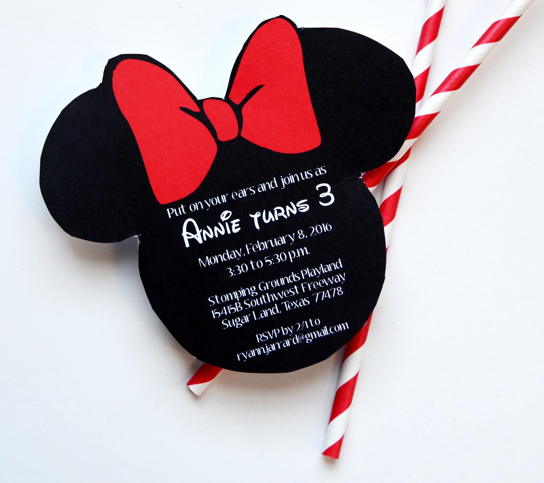 Minnie Mouse Birthday | Glow Stick Valentines — nine0nine creative ...