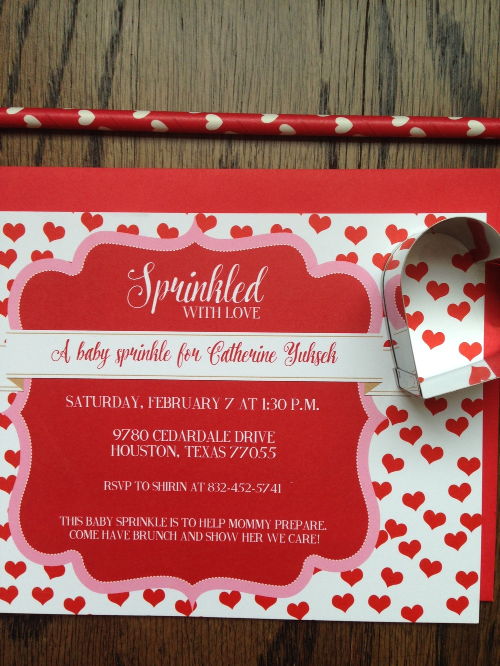 And this was a fun valentines themed baby shower invitation I did a few years ago!