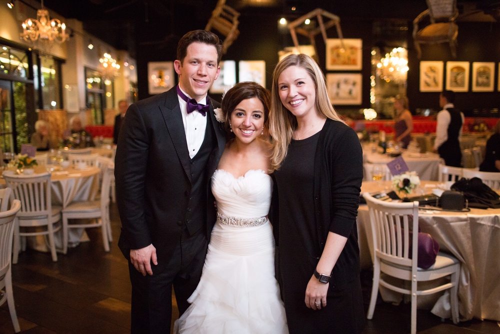 Meggie and Salvatore and their wedding planner, Christina of  Christina Leigh Events . Photo courtesy Meggie Mangione.   Ashley Bosnick Photography