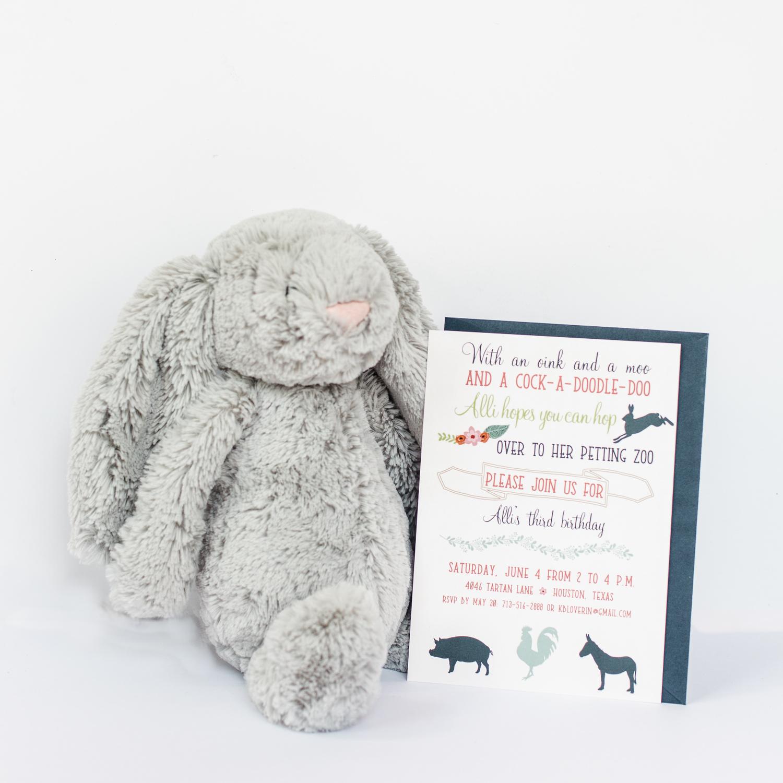 Petting zoo birthday invitation — nine0nine creative | custom ...