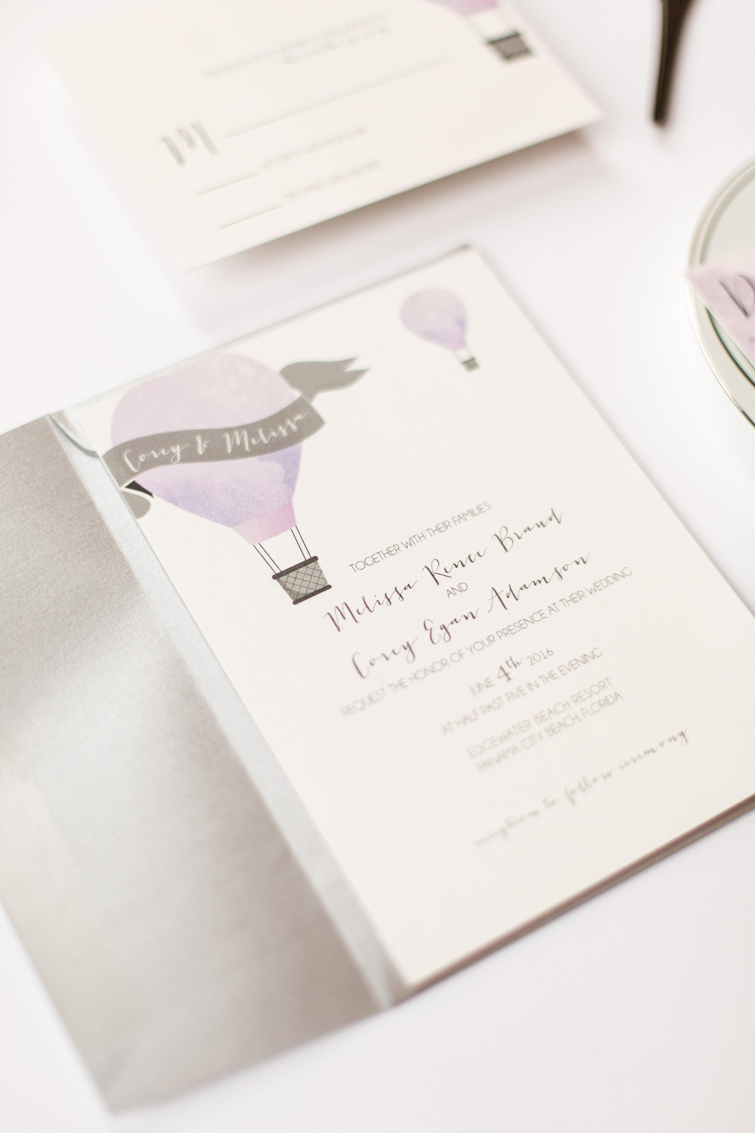 Melissa and Corey | Beach Wedding Invitations — nine0nine creative ...