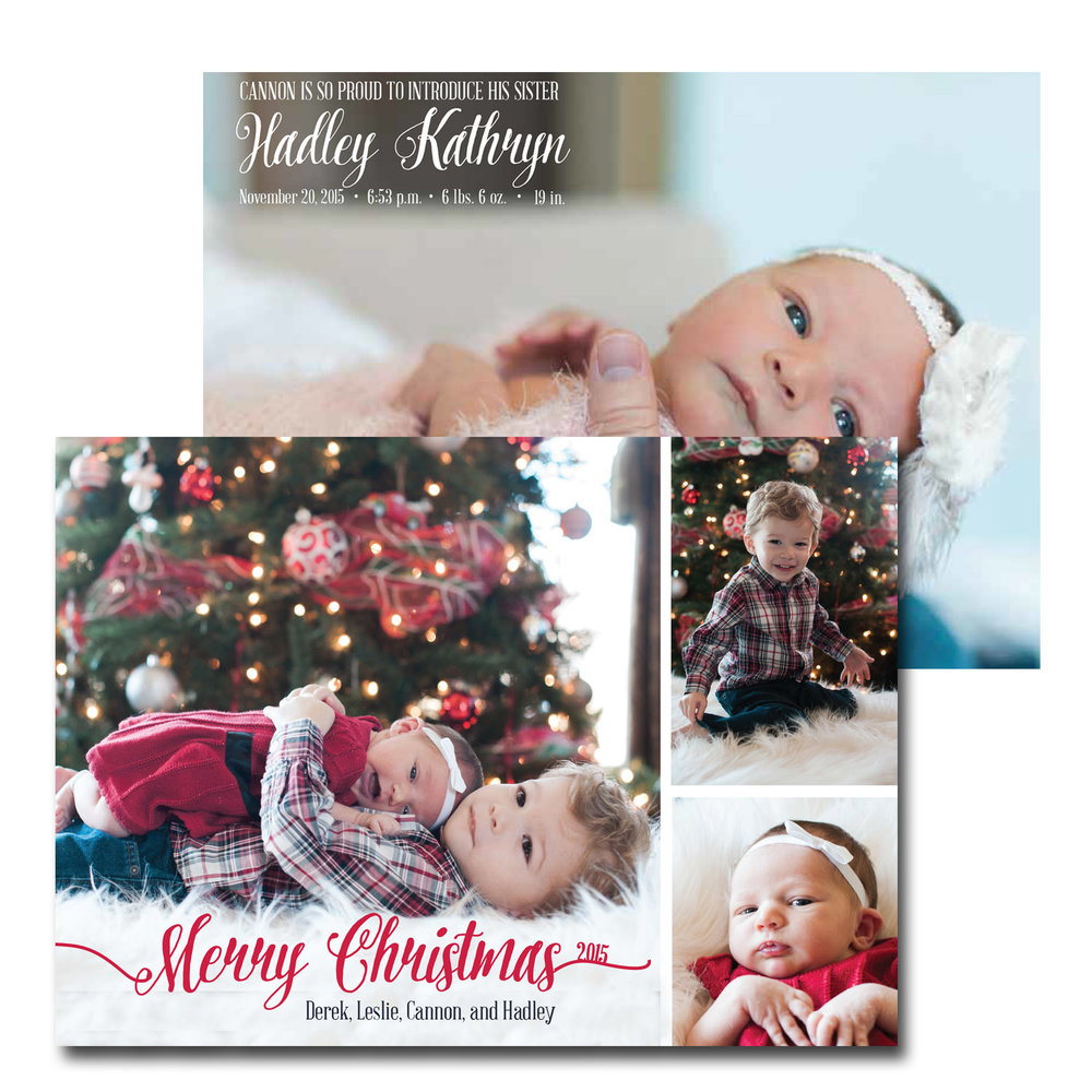 Birth Announcement And Christmas Card 2