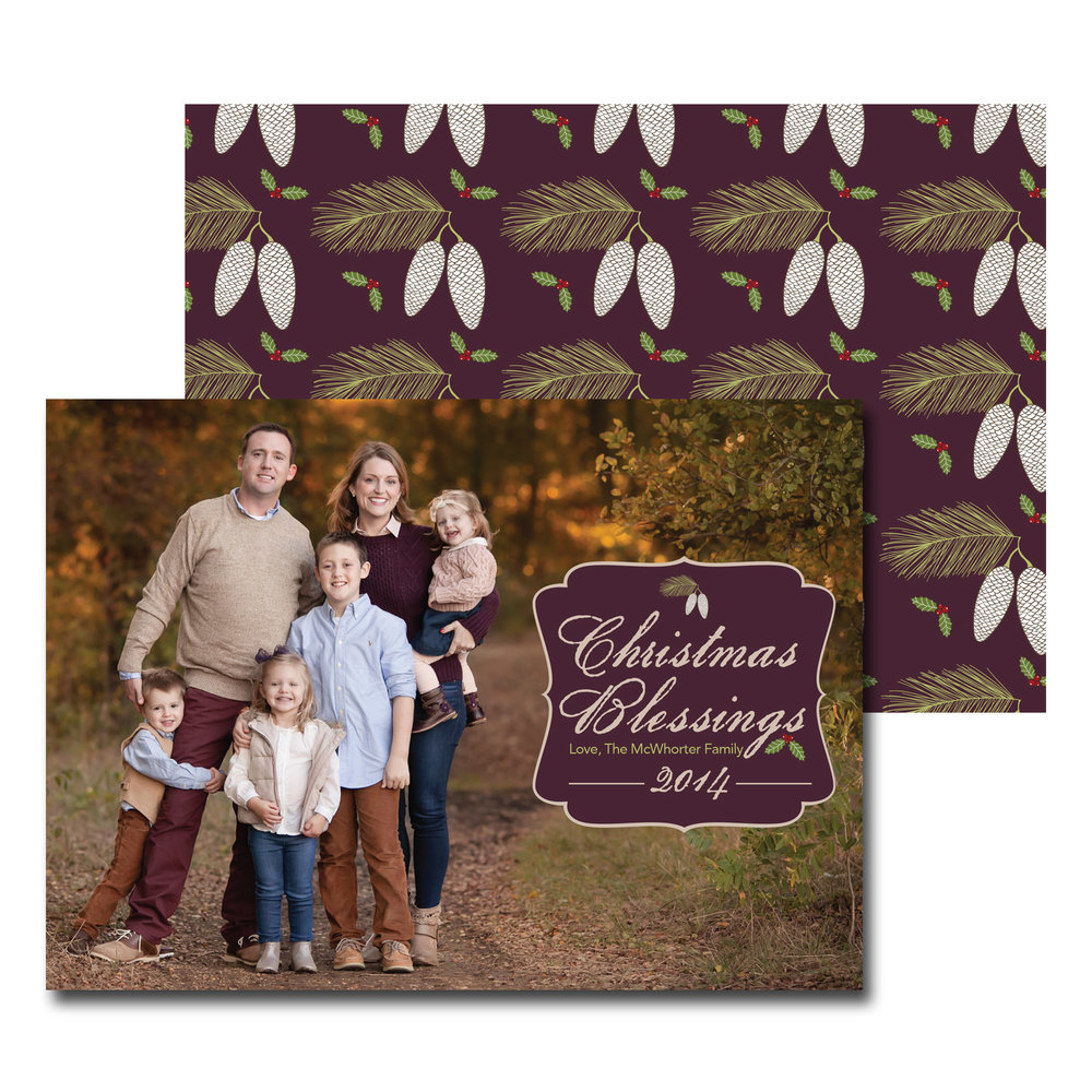 wooded christmas card with photo.jpg
