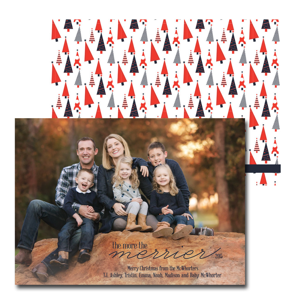 wooded christmas card with pregnancy announcement.jpg