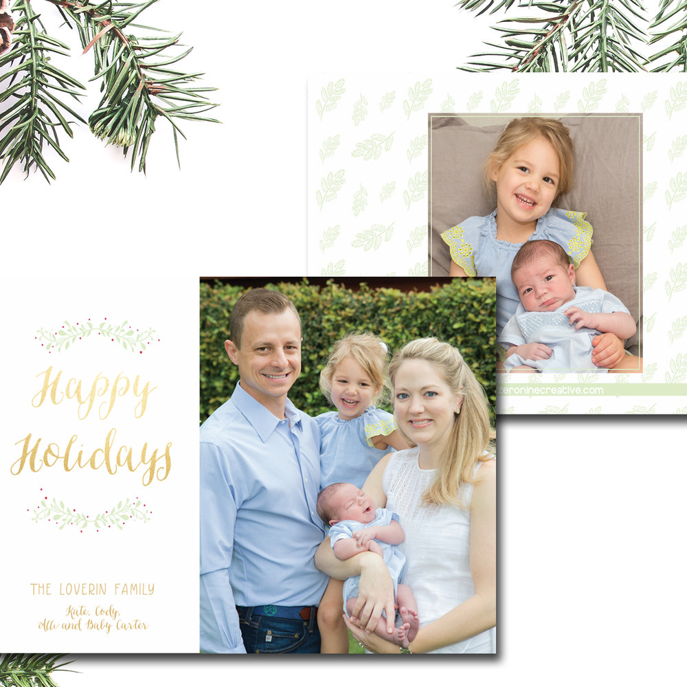 I've worked on a few projects for this sweet family and was so thrilled when Kate asked me to design their Christmas card. The photos were taken by a long time friend of both of ours,  Meredith Flaherty Photography .