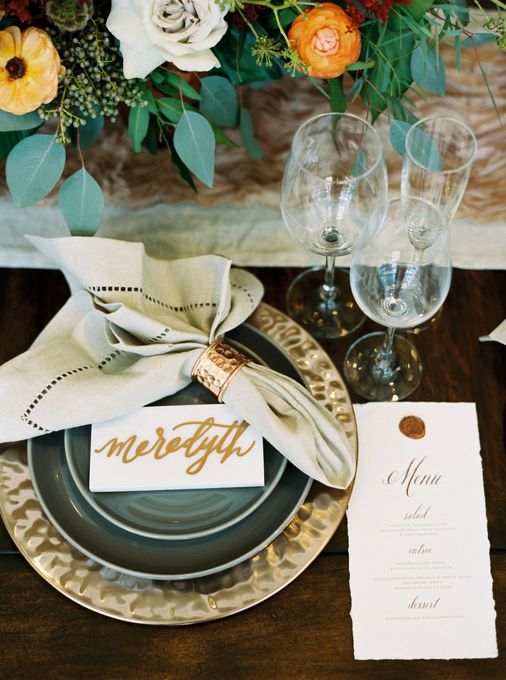 wedding registry tips_pottery barn_deckled edge menu with wax seal.jpg