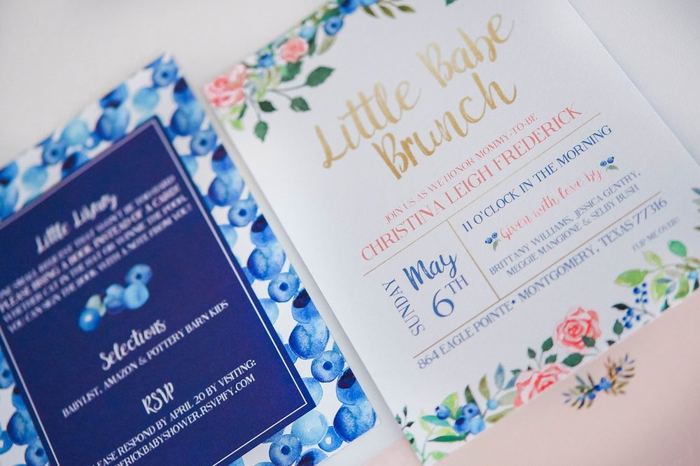 baby shower brunch invitation with blueberries and watercolor florals.jpg