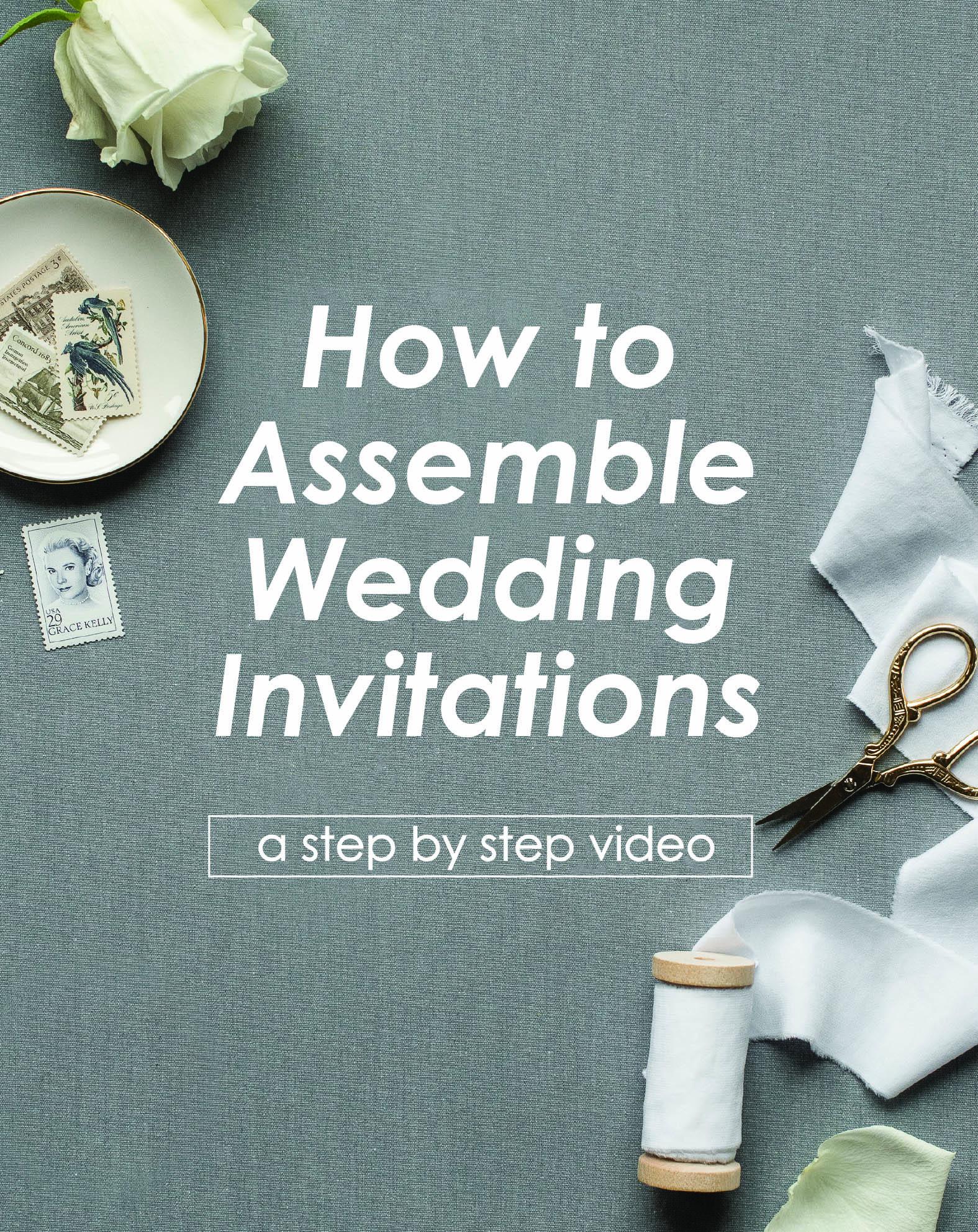 How To Assemble Wedding Invitations Video Tutorial Nine0nine