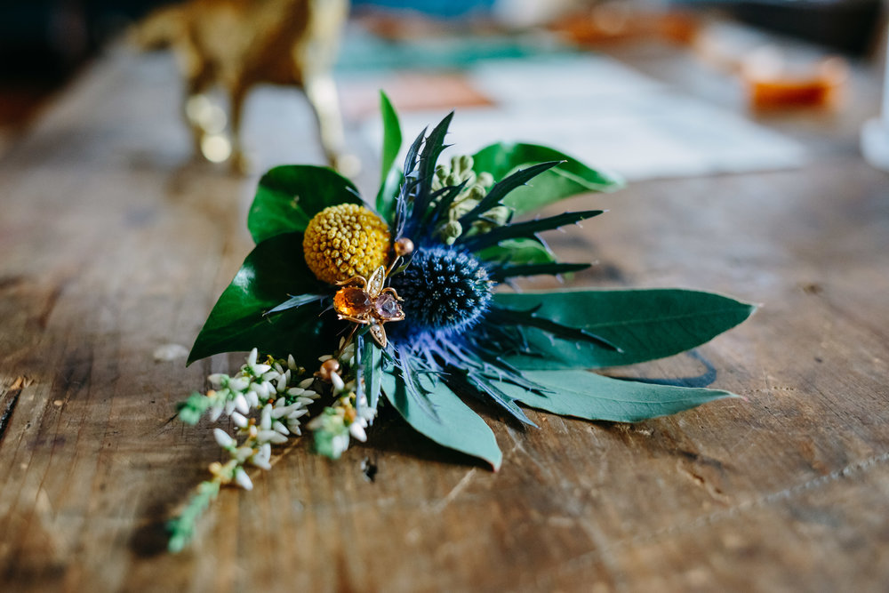 Scottish inspired boutonniere