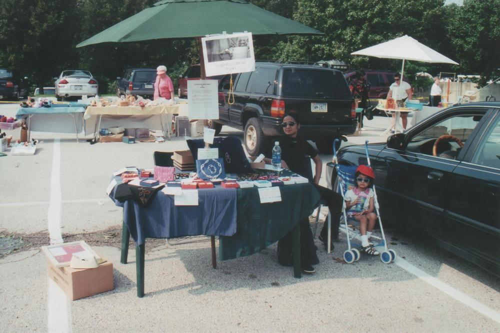 The first show I did at the Paoli Memorial hospital, where I take treatment!  For this show my good friend brought a table, umbrella, helped me so much.  I'll never forget the first show where I made $125.