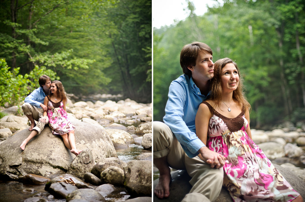 smoky mountain engagement session
