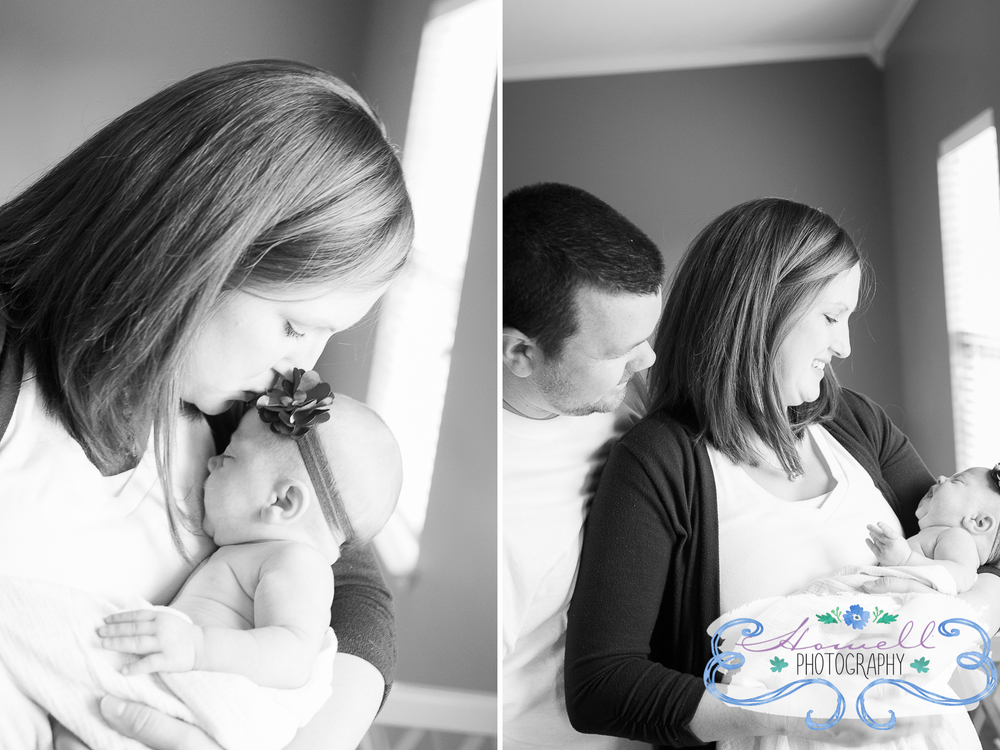 Cleveland TN Newborn Lifestyle Mom & Dad Holding Baby