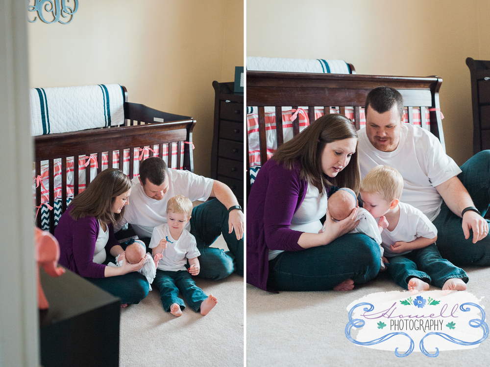 Cleveland TN Newborn Lifestyle Family Holding a Baby