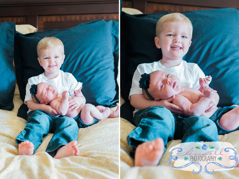 Cleveland Tennessee Family Portraits Brother Holding Baby