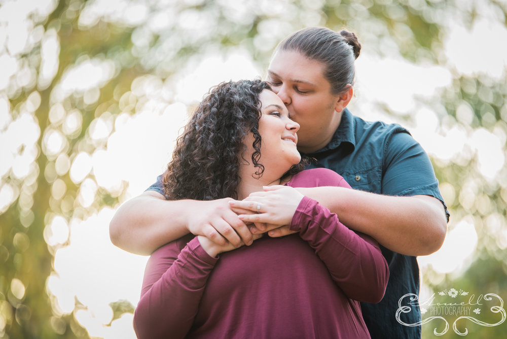 Outdoors engagement session in Chattanooga