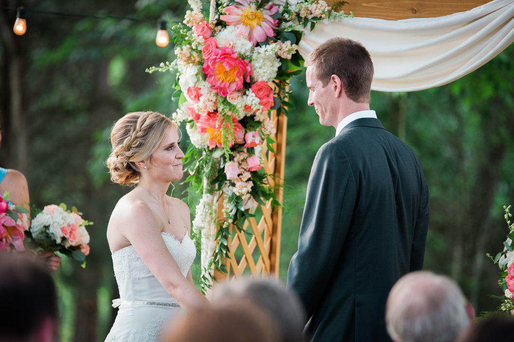Bride and Groom at the Barn at Highpoint Farms