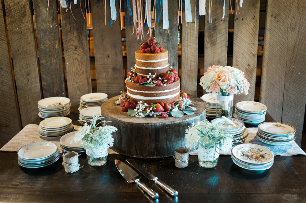 Wedding Cake at the Barn at High Point Farms