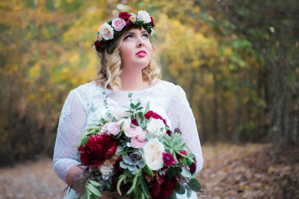 bride at the coffey barn in cleveland