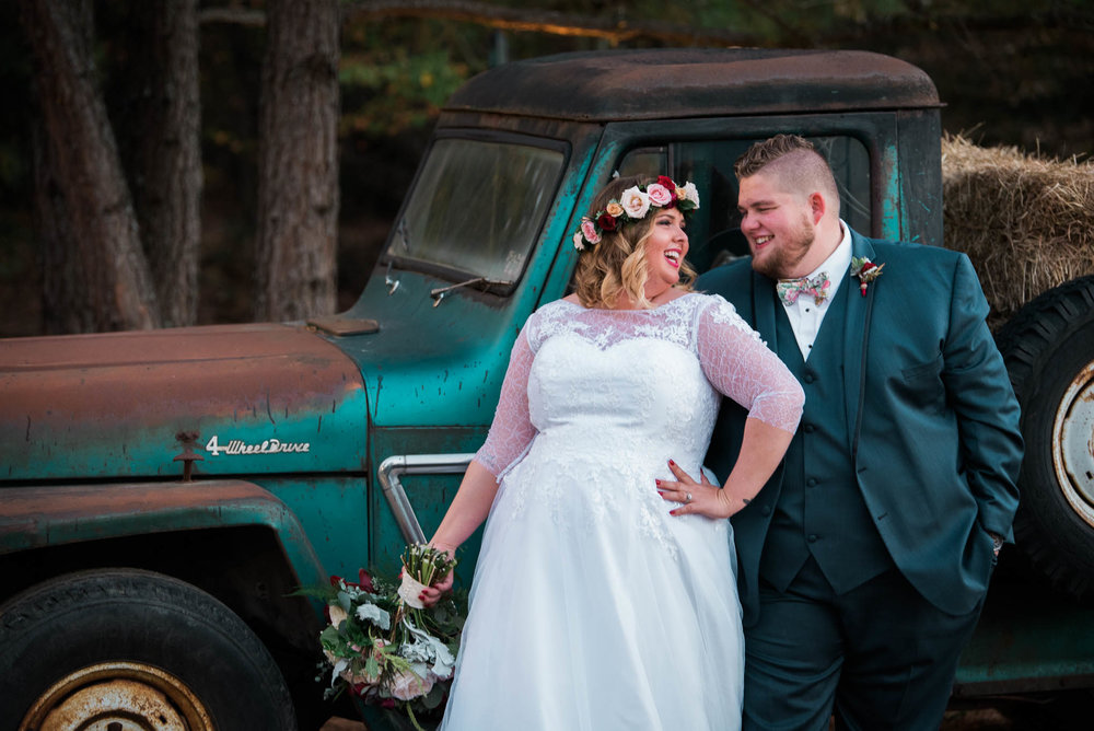 Bride with a truck in cleveland tn
