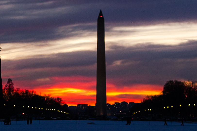 Washington DC gave me the best sunset for my first engagement session with  Ken Pak .