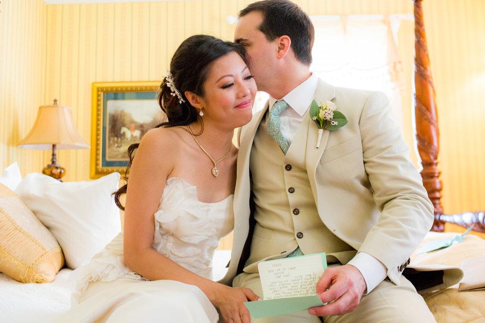 La mariée tenait à voir son fiancé avant la cérémonie.