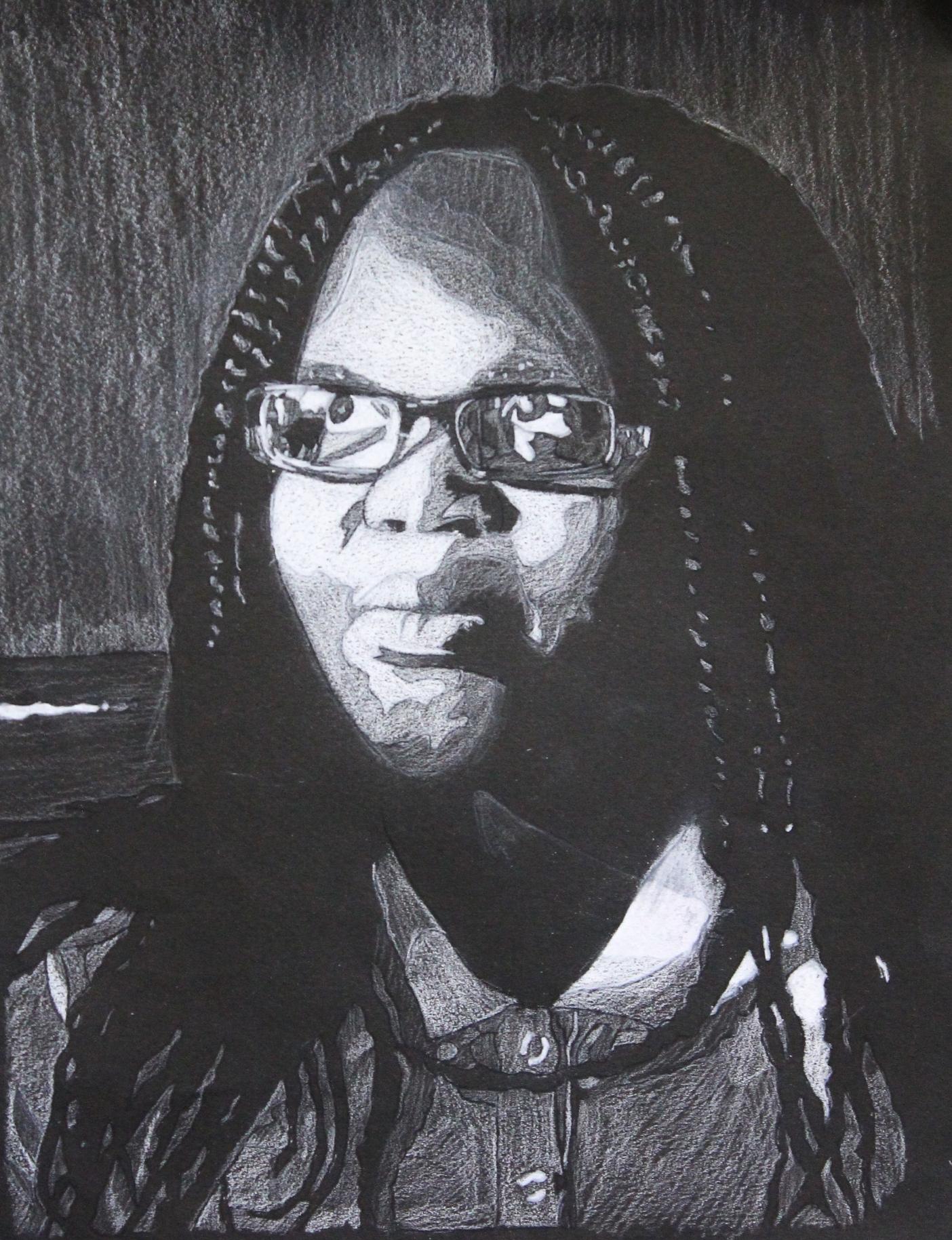 9th Grade Fauve Self Portraits Color Pencil 9 X 11