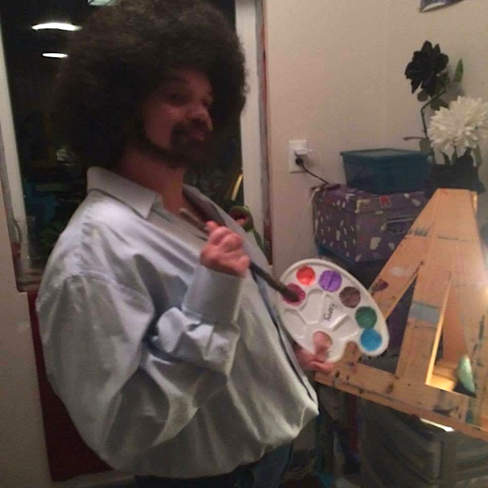 Our Trish channeling Bob Ross